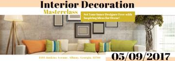 Interior Decoration Event Announcement Interior in Grey