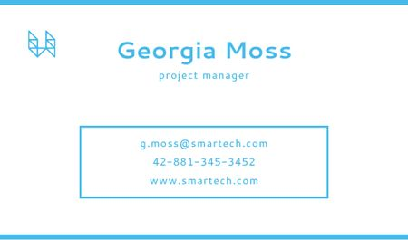Ontwerpsjabloon van Business card van Project Manager Services Offer