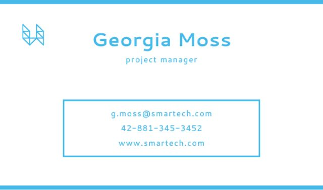 Designvorlage Project Manager Services Offer für Business card