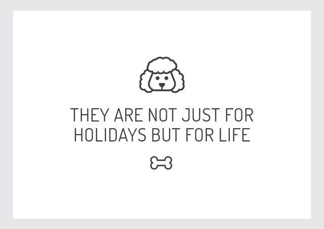 Template di design Citation about dog pet with Cute Poodle Postcard