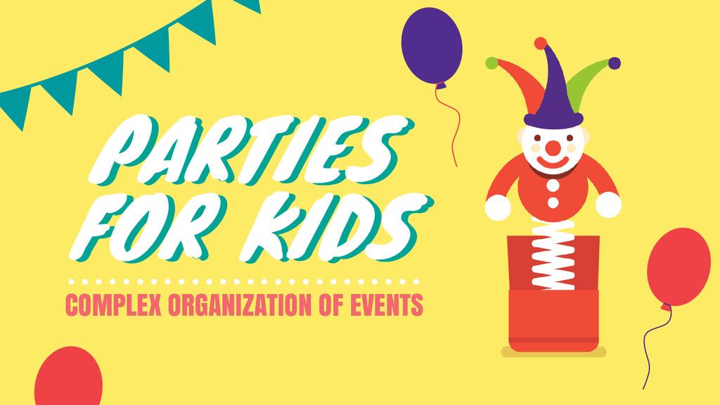 Party Organization Service Ad Jumping Jack Toy — ein Design erstellen