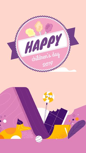 Template di design Happy child on a slide on Children's Day Instagram Video Story