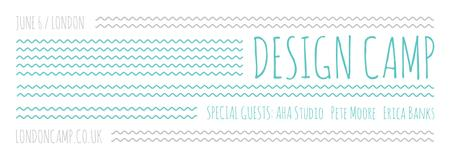 Template di design Design camp announcement on Blue waves Tumblr