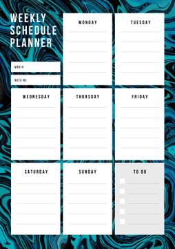 Weekly Schedule Planner on Abstract Texture