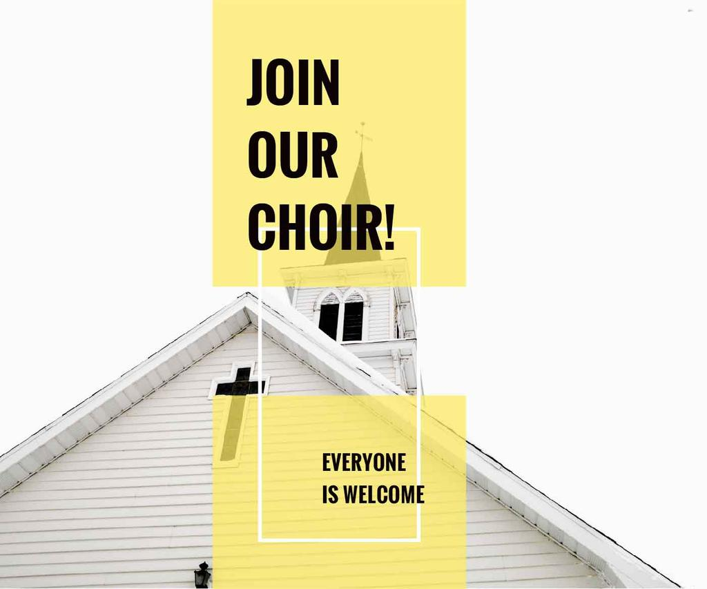 Invitation to a religious choir — Crear un diseño