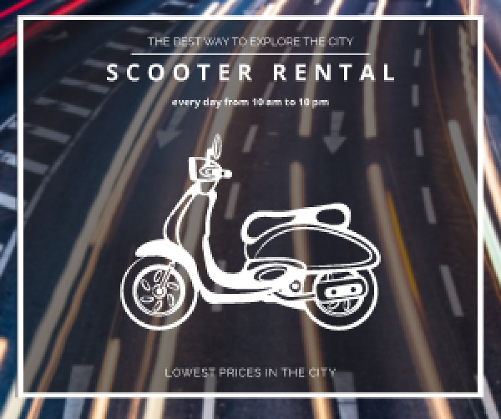 Scooter rental advertisement — Maak een ontwerp