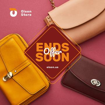 Accessories Discount Stylish Purses in Pink | Instagram Ad Template