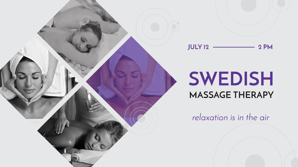 Woman at Swedish Massage Therapy — ein Design erstellen