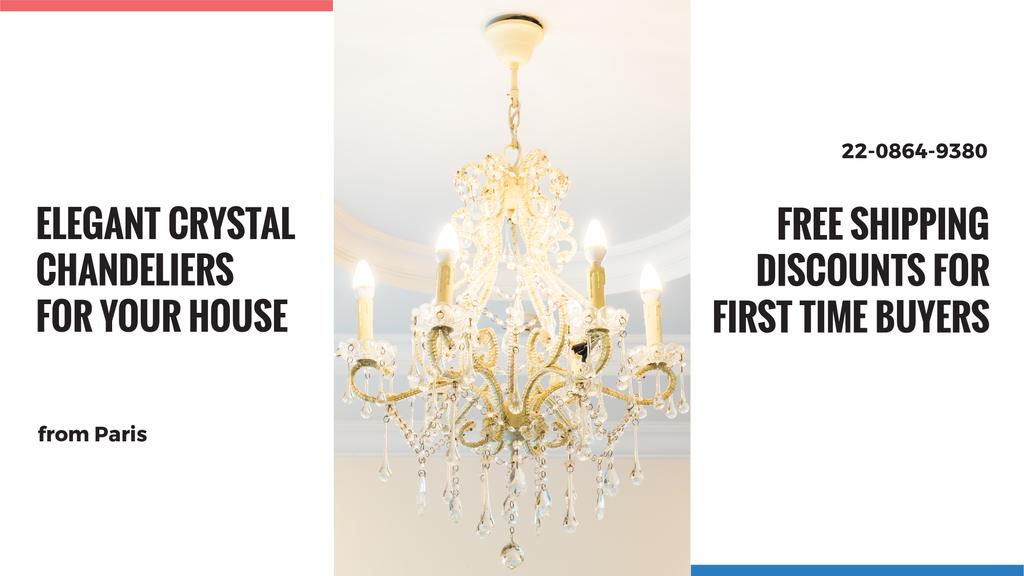 Elegant crystal Chandelier offer — Crear un diseño