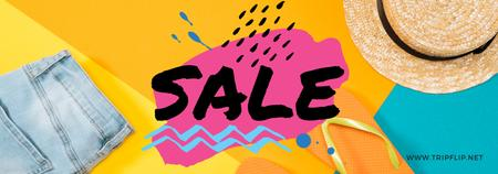 Bright Sale Offer with summer Clothes Tumblr – шаблон для дизайна