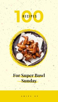 Fried chicken wings for Super Bowl