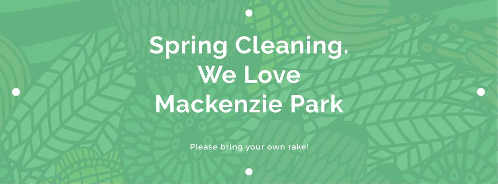 Spring Cleaning Event Invitation Green Floral Texture | Facebook Cover Template — Створити дизайн