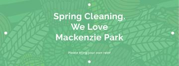 Spring Cleaning Event Invitation Green Floral Texture | Facebook Cover Template