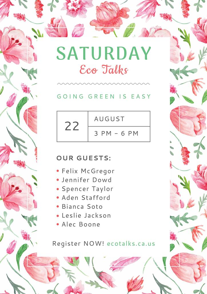Saturday eco talks — Создать дизайн