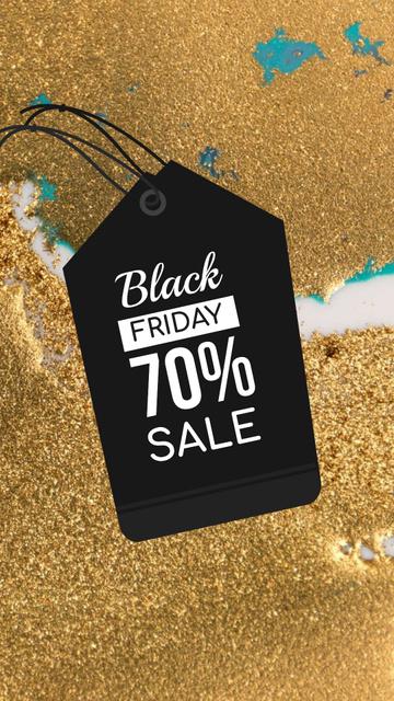 Plantilla de diseño de Price Tag with Black Friday sale Instagram Story