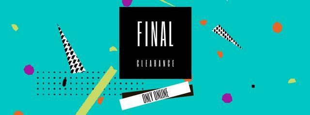 Modèle de visuel Sale Announcement on colorful geometric Frame - Facebook Video cover