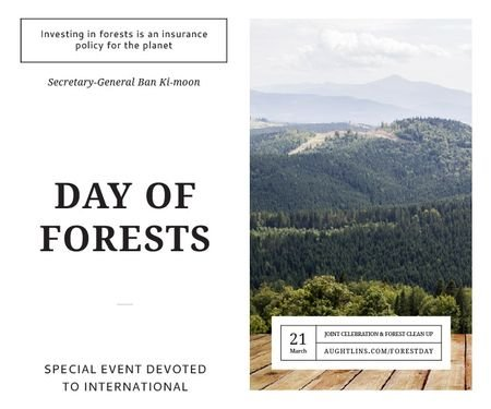 Plantilla de diseño de International day of forests Large Rectangle