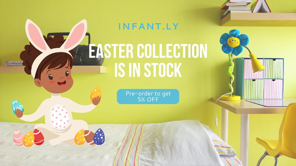 Easter Promotion Kid in Bunny Costume | Full Hd Video Template — Crea un design