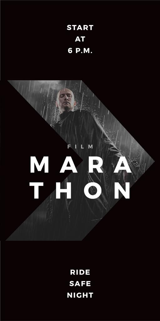 Film Marathon poster — Créer un visuel