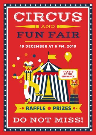 Modèle de visuel Circus and funfair invitation with Tent - Invitation
