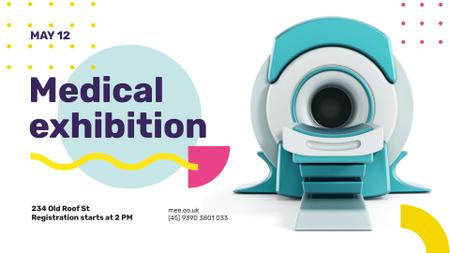 Modèle de visuel Medical Event announcement modern MRI Scanner - FB event cover