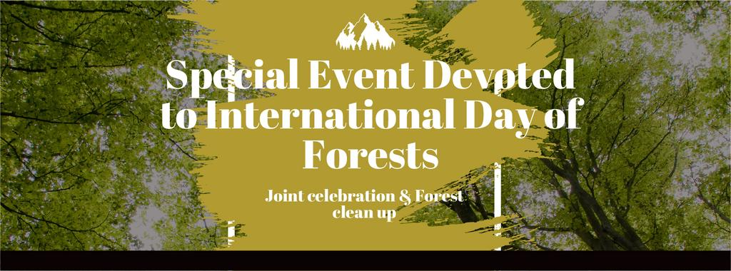 International Day of Forests Event with Tall Trees — Modelo de projeto