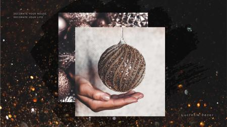 Plantilla de diseño de Decor Studio Ad Hands with Bauble Full HD video