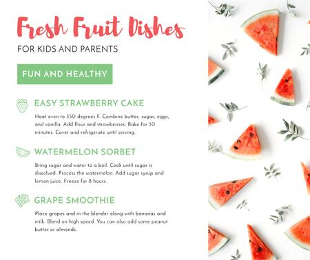 Plantilla de diseño de Fresh fruit dishes Facebook
