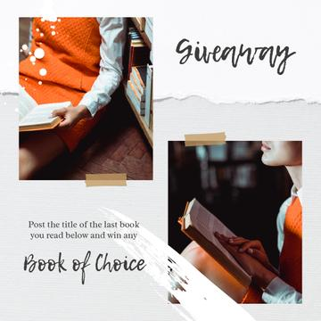 Giveaway Book Offer with Girl reading