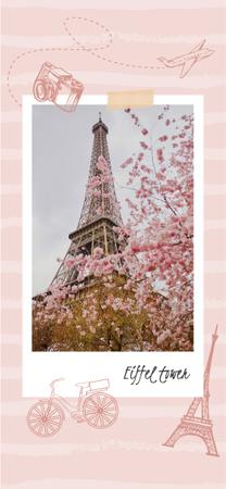 Plantilla de diseño de Paris Travelling Inspiration with Eiffel Tower Snapchat Geofilter