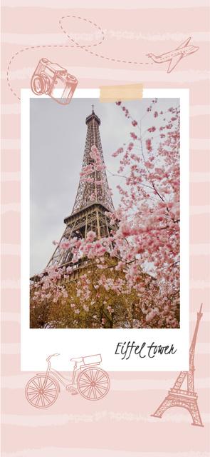 Paris Travelling Inspiration with Eiffel Tower Snapchat Geofilter Modelo de Design