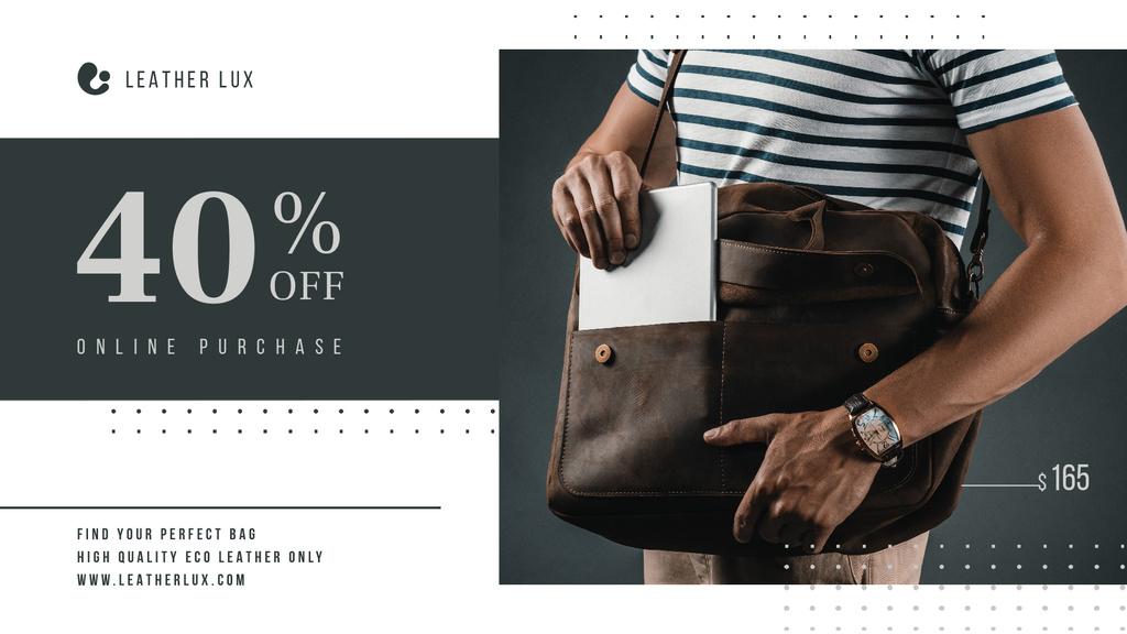 Bag Store Promotion Man Carrying Briefcase — Modelo de projeto