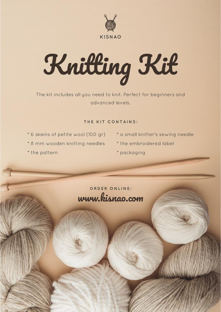 Knitting Kit Offer with spools of Threads —デザインを作成する
