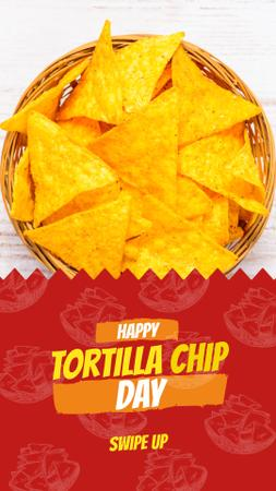 Tortilla chip Mexican dish Instagram Story Modelo de Design