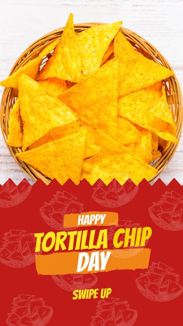 Ontwerpsjabloon van Instagram Story van Tortilla chip Mexican dish