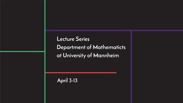Lecture series of mathematics at university of Mannheim