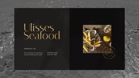 Plantilla de diseño de Seafood Bar Promotion Oysters on a Plate Full HD video