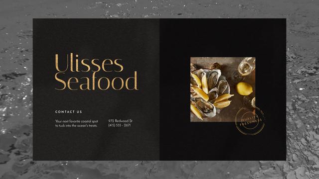 Szablon projektu Seafood Bar Promotion Oysters on a Plate Full HD video