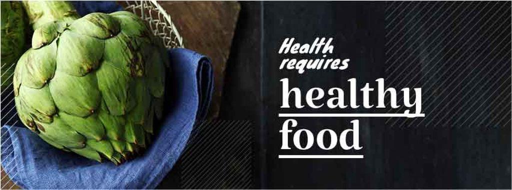 Health requires healthy food Quote — Maak een ontwerp