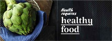 health requires healthy food poster