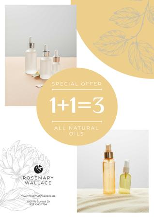Plantilla de diseño de Natural Oils Special Offer Poster