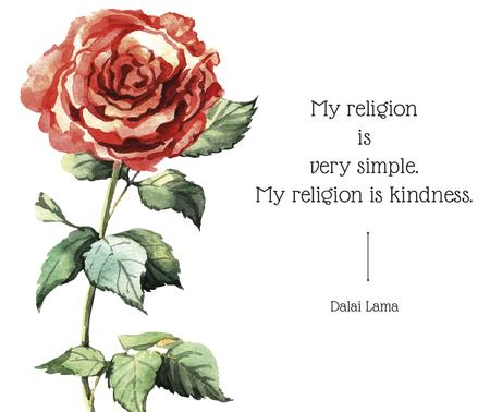 Ontwerpsjabloon van Facebook van Religion Inspirational quote with rose