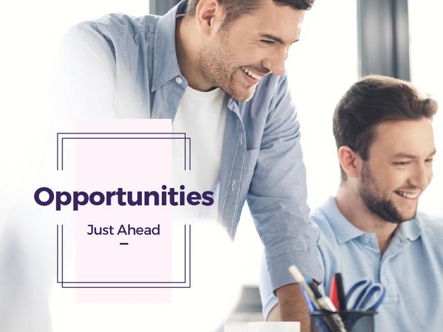 Businessmen working in Office Presentation – шаблон для дизайна