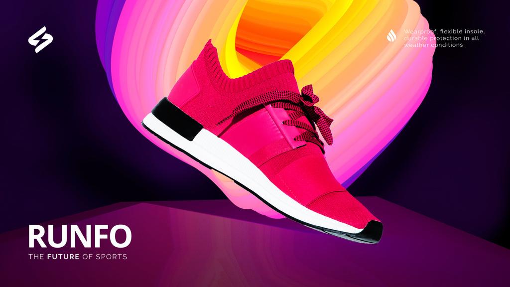 Sporting Goods Ad Running Pink Sports Shoe | Full Hd Video Template — Создать дизайн
