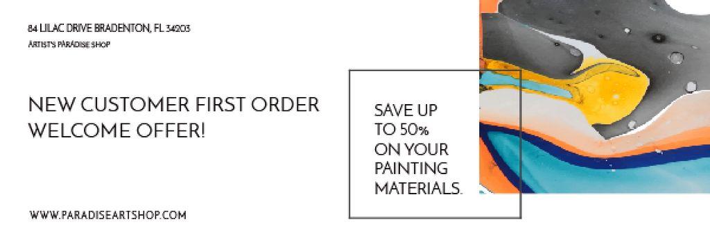 Painting materials shop — Crea un design