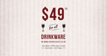 Drinkware Sale Offer with Wine Glasses