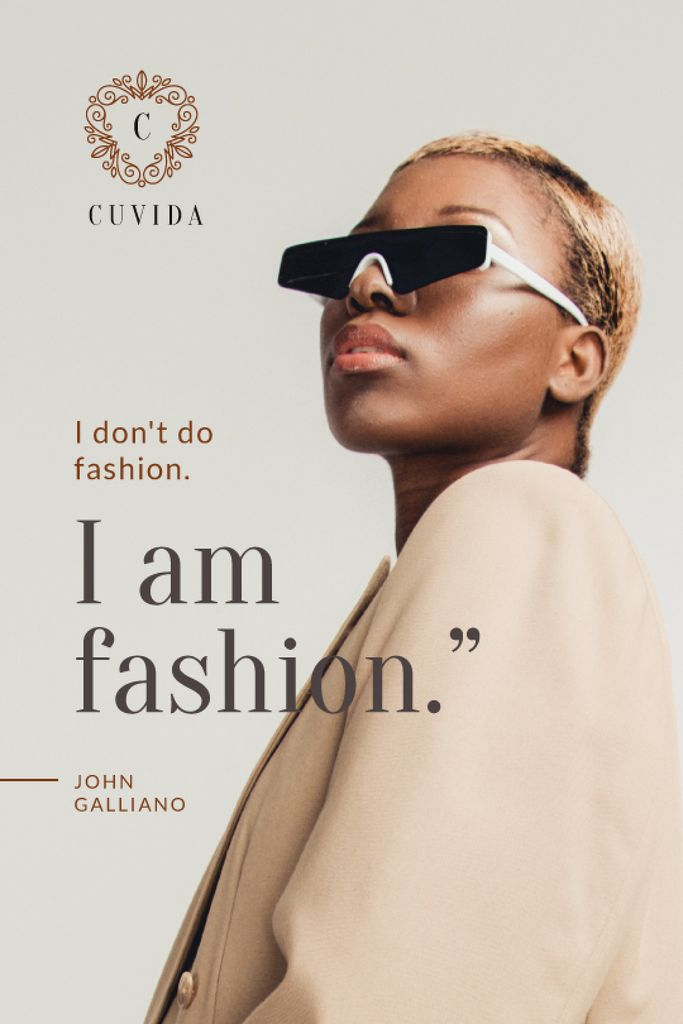 Fashion Ad Stylish Woman in Sunglasses — Créer un visuel