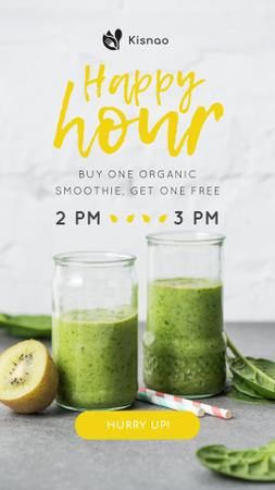 Plantilla de diseño de Organic Smoothie with fresh kiwi Instagram Story
