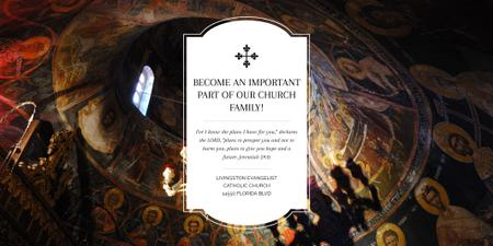 Evangelist Catholic Church Invitation Twitter – шаблон для дизайну