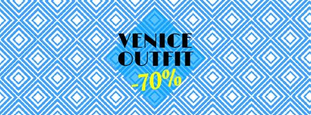 Venice Outfit Ad Facebook Video cover – шаблон для дизайна